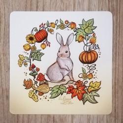 Carte Postale Lapin 16x16cms